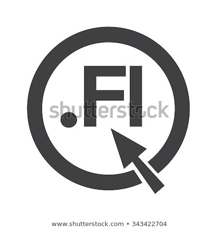Finland Domain dot FI sign icon Illustration Stock photo © kiddaikiddee