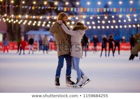 man ice skating stock photo © rastudio