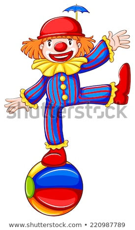a simple drawing of a playful clown stock photo © bluering