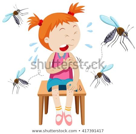 Girl got bitten by mosquitoes Stock photo © bluering