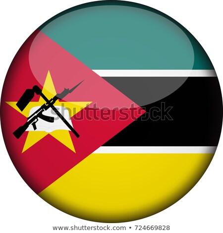Moçambique bandeira botão textura mundo assinar Foto stock © ojal