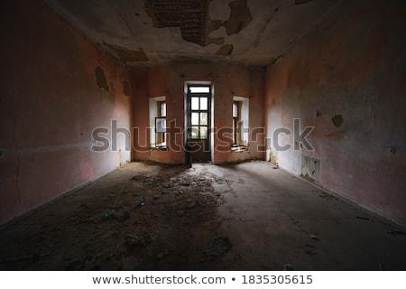 Oude vernietigd muur hemel Stockfoto © meinzahn