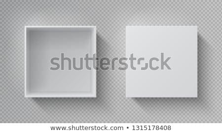 Open dozen geïsoleerd witte foto realistisch Stockfoto © pakete