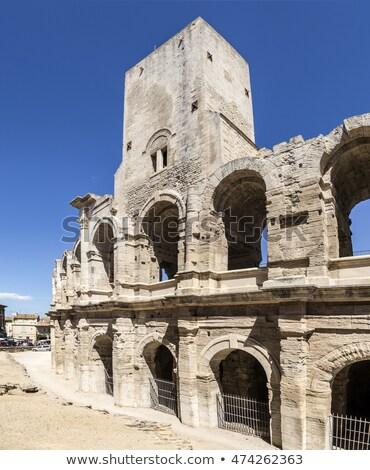 Kilátás hatalmas falak híres aréna Stock fotó © meinzahn