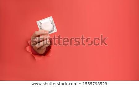красный презерватива иллюстрация белый секс образование Сток-фото © bluering