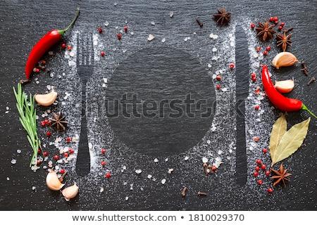 rosemary  with salt Stock photo © tycoon
