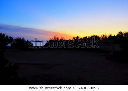 Intenzív naplemente égbolt rózsaszín narancs kék Stock fotó © yhelfman