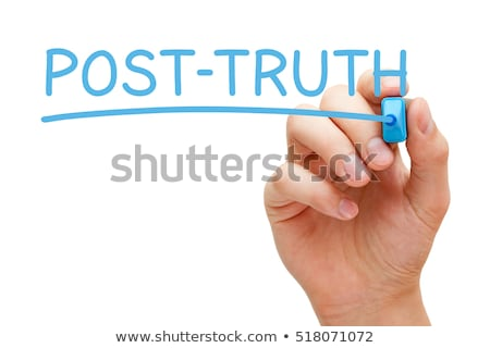 Post-Truth Blue Marker Stock photo © ivelin
