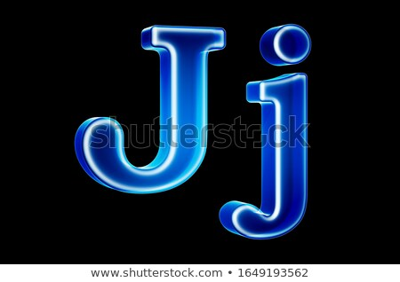 Transparent x-ray letter J. 3D Stock photo © djmilic