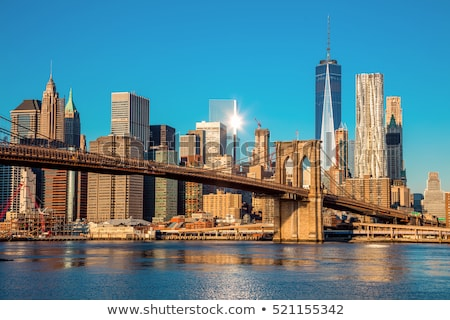 Nowy Jork obniżyć Manhattan panoramę widoku działalności Zdjęcia stock © oliverfoerstner