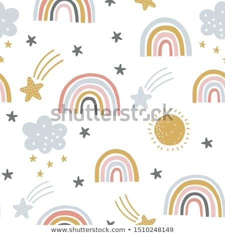 радуга звездой черный Лучи ярко sparks Сток-фото © blackmoon979