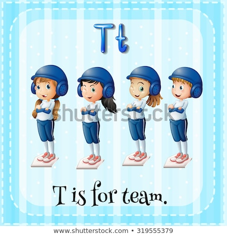 Flashcard letter T is for team Stock photo © bluering