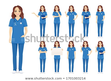 nurse standing isolated Stock photo © sapegina