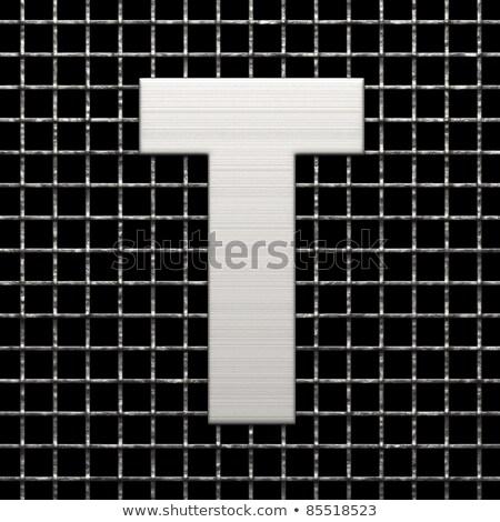 Metal lattice font letter T 3D Stock photo © djmilic