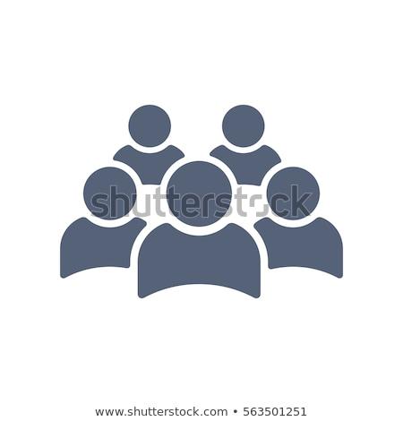 квадратный люди икона дизайна 10 фон Сток-фото © sdCrea