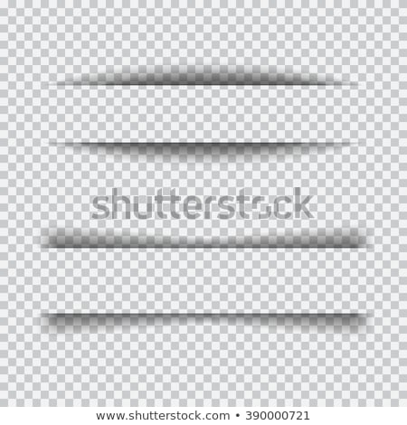 paper sheet line shadow effect on transparent background stock photo © sarts