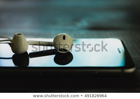 kulaklık · ahşap · teknoloji · müzik - stok fotoğraf © dolgachov