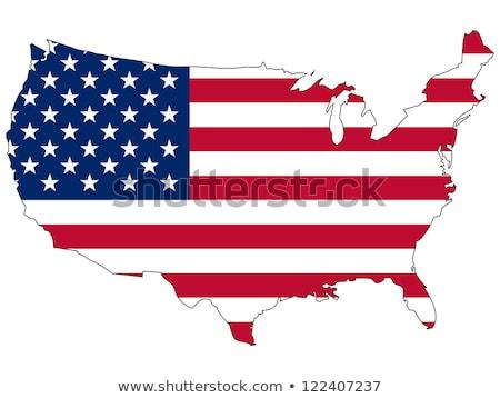 United State Of America flag isolated vector Stock photo © nezezon
