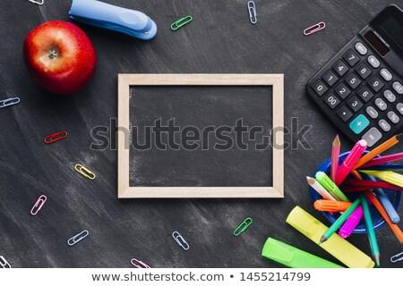 Różny przybory szkolne czarny edukacji Kalkulator nauki Zdjęcia stock © wavebreak_media