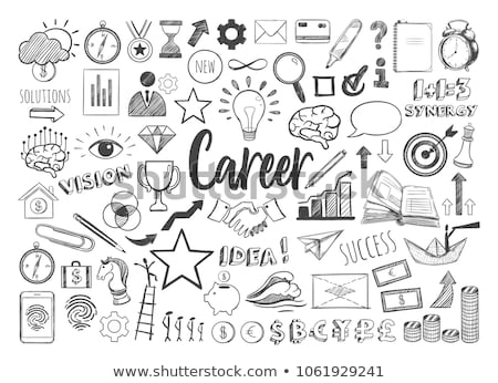 We are Recruiting Concept. Doodle Icons on Chalkboard. Stock photo © tashatuvango