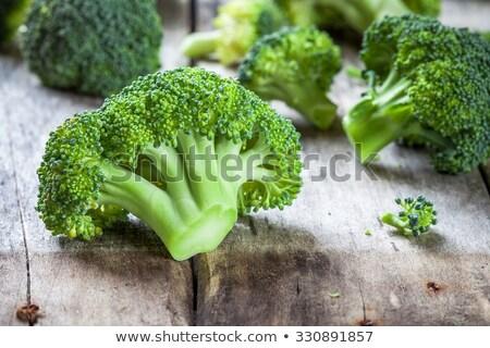 Vers ruw broccoli witte houten exemplaar ruimte Stockfoto © Lana_M
