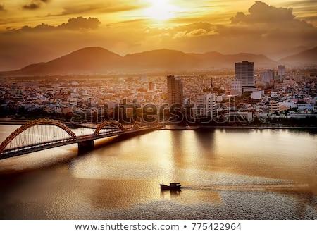 wrażenie · krajobraz · asia · miasta · Wietnam · zmierzch - zdjęcia stock © xuanhuongho