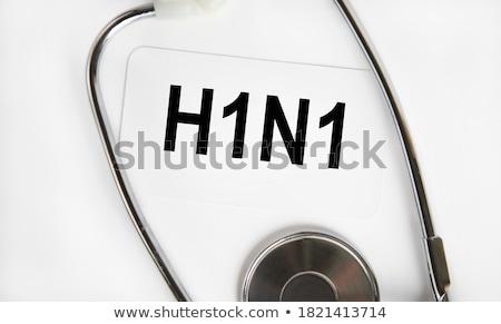 Diagnóstico médico pílulas seringa foco 3d render Foto stock © tashatuvango