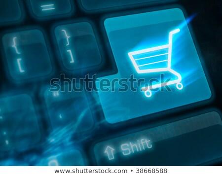 キーボード 青 キー インターネットショッピング 書かれた コンピュータのキーボード ストックフォト © tashatuvango