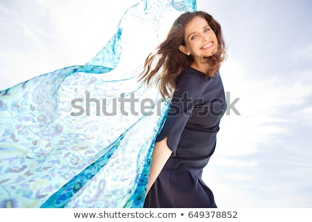 Woman Playing Air Plain Stock photo © IS2