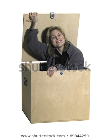 Woman Comming out of hiding Stock photo © filipw