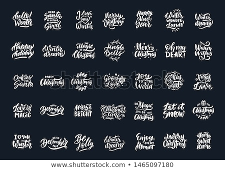 Set of Marry Christmas and Happy New Year banner on dark and red background with snowflakes and gift Stock photo © Leo_Edition