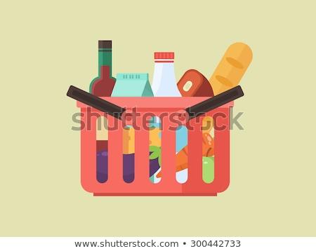 Aubergine at Supermarket, Vector Illustration Stock photo © robuart