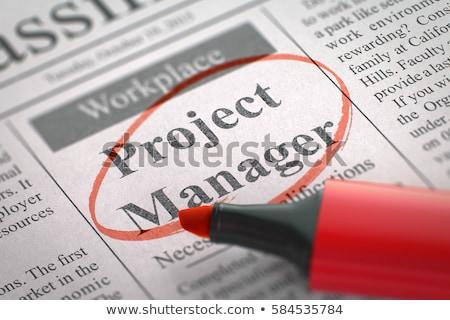 proje · yöneticisi · gazete · iş · arama · çalışmak · zaman - stok fotoğraf © tashatuvango