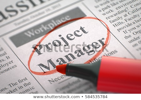 chef · de · projet · journal · recherche · d'emploi · travaux · temps - photo stock © tashatuvango
