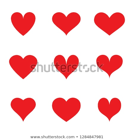 Red hearts labels in different style Stock photo © studioworkstock