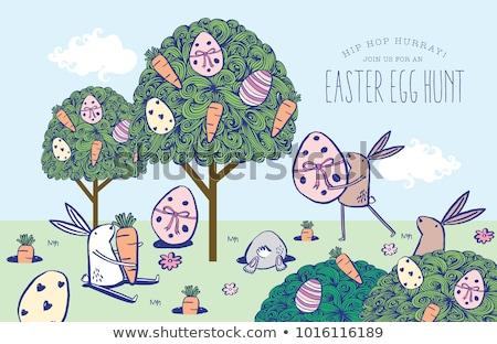 трава · яйцо · символ · Христос · воскрес · Пасху · дерево - Сток-фото © get4net