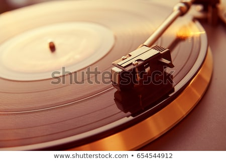 Turntable stylus on a vinyl record Stock photo © Taigi
