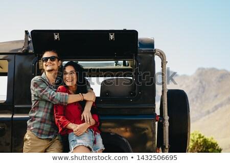 Casal suv sorridente europa transporte Foto stock © IS2