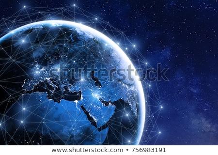 глобальный bitcoin сеть валюта бизнеса компьютер Сток-фото © alexaldo