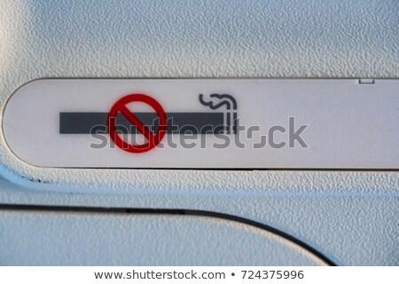 cigarette forbid sign symbol on black Stock photo © romvo