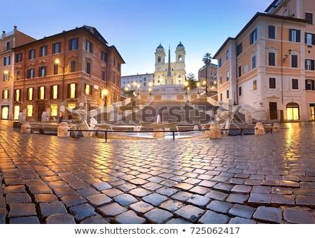 Espanhol passos de manhã cedo Roma Itália céu Foto stock © Givaga