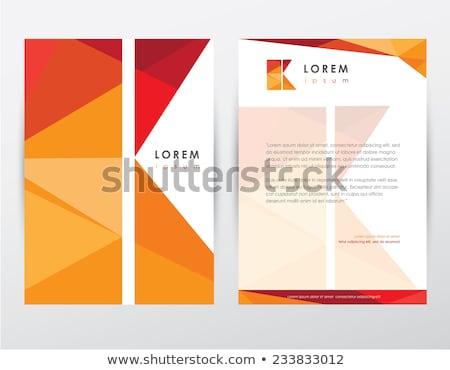 Modernen geometrischen Briefkopf Vorlage Design abstrakten Stock foto © SArts