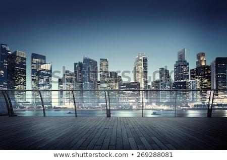 Urban scene miejskich działalności fantasy krajobraz budynku Zdjęcia stock © milsiart