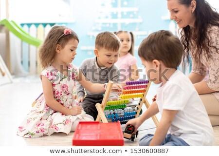 Grupo crianças jogar matemática jogo ilustração Foto stock © bluering