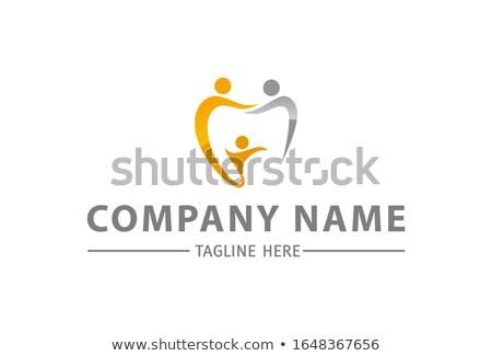 Dental Teeth Love Shape Swoosh Symbol Logo Design Stock photo © smith1979