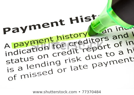'Payment history' highlighted in green stock photo © ivelin