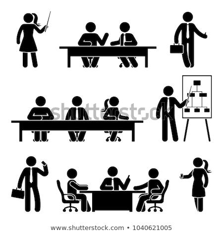 スティック 表 事務 コンピュータ 幸せ ノートパソコン ストックフォト © Ustofre9