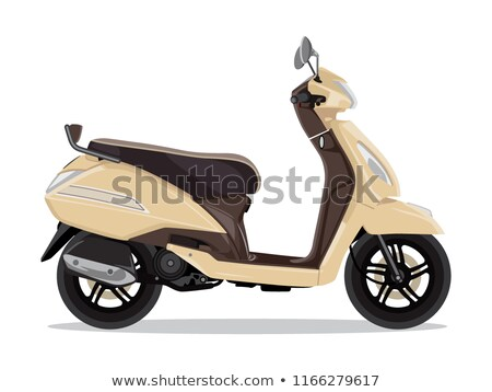 Vector beige modern scooter, flat style side view. Stock photo © MarySan