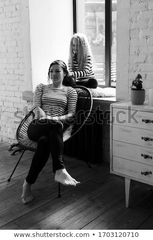 девочку · сидят · Председатель · девушки · ребенка · Kid - Сток-фото © dashapetrenko