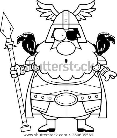 Surprised Cartoon Odin Stock photo © cthoman